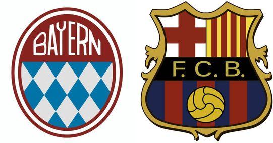 Bayern, Barca und Co.: So änderten sich die Logos einiger Top-Vereine