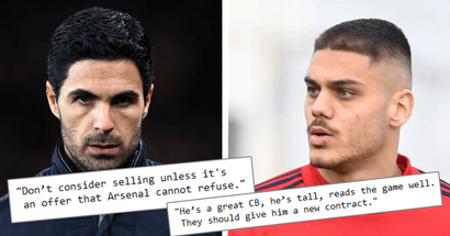 'He's proving to be a rock': Tribuna fans urging Mikel Arteta to give Dinos Mavropanos a chance