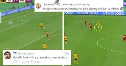 'Imagina la próxima temporada a un Bale motivado jugando esta pelota para Mbappé': los fanáticos reaccionan a la majestuosa asistencia de Gareth para Ramsey