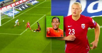 TERMINATOR: Haaland destroza a Van Dijk y marca para Noruega