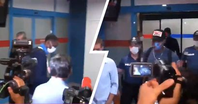 Journalists approach random man at airport as they confuse him with Trabzonspor new signing Benik Afobe