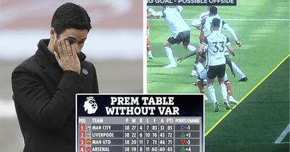 Alternative table: Arsenal would've made the top 4 without VAR