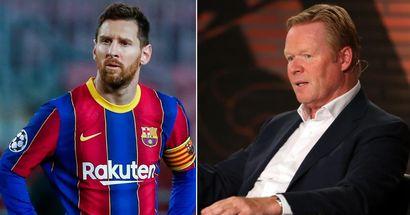 """Ronald Koeman : """"Messi a tout déguisé. Je savais que ce n'était pas bon''"""