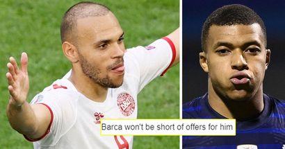 """""""Meilleur à l'Euro que Mbappe"""": les mèmes partout, les fans réagissent à la brillante prestation de Braithwaite contre le Pays de Galles"""