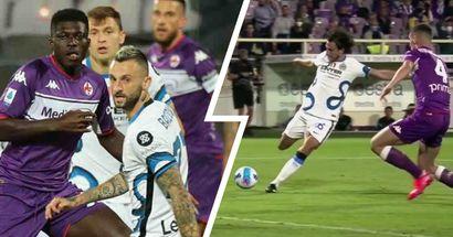Uno-due fulminante: l'Inter ribalta il risultato contro la Fiorentina - LE IMMAGINI