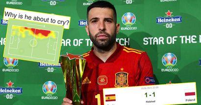 """""""Regardez-le, il est sur le point de pleurer parce que son attaquant est Morata"""": les fans réagissent alors qu'Alba remporte le prix Star of the Match"""