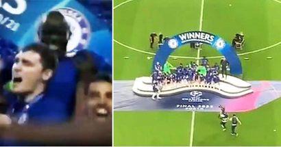 Incredibile momento tra N'Golo Kante e Zouma nella finale di Champions vinta contro il Man City