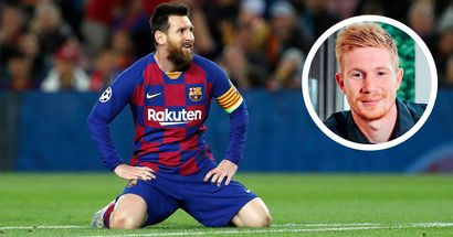 Kevin De Bruyne: 'For me, Messi has been the best player of all time'