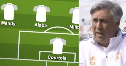 Ancelotti reveals formation he'll go with in El Clasico