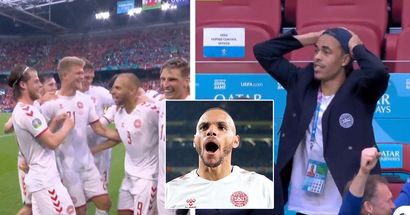 Les joueurs du Danemark ont vécu un ascenseur émotionnel en fin de match après que la VAR confirme le but initialement refusé de Braithwaite