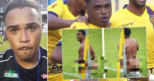 Un joueur brésilien agite ses parties génitales sur ses adversaires, étourdit les fans avec une fête nue et se voit interdire huit matchs