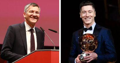 """Herbert Hainer wünscht Lewandowski den Ballon d'Or: """"Er gehört für mich definitiv zu den Favoriten"""""""
