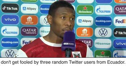 """💁♂️ """"Je suis sûr qu'il pourrait même jouer comme gardien de but"""": certains Madridistas ne peuvent pas comprendre les avis anti-Alaba sur les réseaux sociaux"""