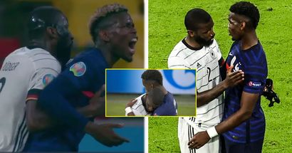 Pogba shares warm embrace with Antonio Rudiger after controversial 'bite' incident in Euro 2020 clash