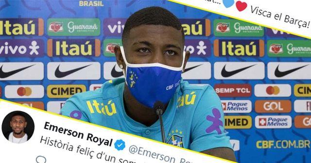 """""""Heureuse histoire d'un rêve devenu réalité"""": Emerson réagit à son transfert au Barça"""