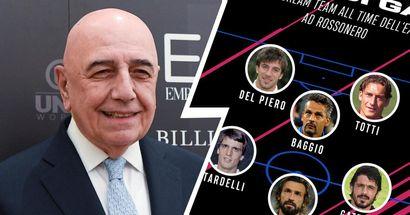 Galliani e la sua TOP XI italiana di tutti i tempi: ci sono ben 5 ex bianconeri