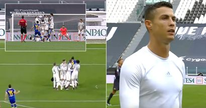 'Inexcusable. It's his fault'. Cristiano Ronaldo shocks fans with bizzare behavior during free-kick