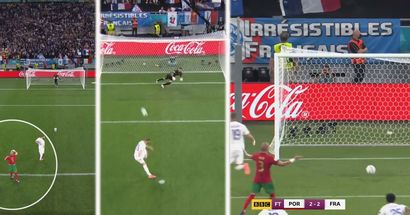 Pepe tells Rui Patricio to dive left for Karim Benzema penalty - gets furious to see him go other way