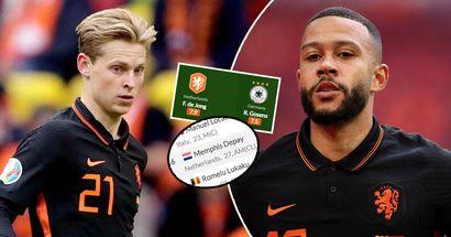 De Jong entre los mejores jugadores de la Euro 2020, Depay, en el TOP 6