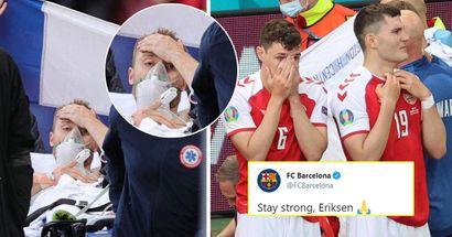 Barcelone, Fabregas et plus: le monde du football se rassemble pour montrer leur soutien à Eriksen après la tragédie