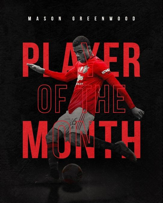 Mason Greenwood  Wins July Player of The Month Award Ahead of Martial and Bruno
