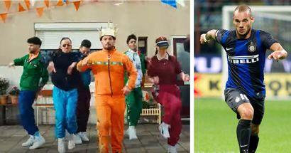 Dal calcio alla musica, Wesley Sneijder si dà al rap: protagonista di uno spot pubblicitario esilarante