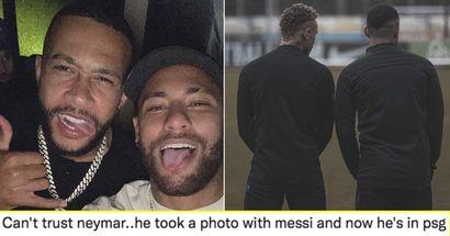 """""""Nouvelle chanson avec DJ Snake en approche?"""": Les Cules réagissent alors que Memphis met en ligne une photo commune avec Neymar"""