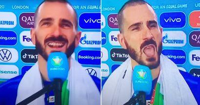 """Bonucci : """"Très agréable de voir les fans anglais quitter le stade. Ils pensaient gagner le trophée"""""""