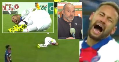 Neymar left in agony after suffering injury - Caen coach replies, 'I'm not crying, I'll leave it to Neymar'