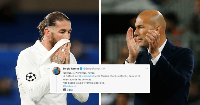 'We're disappointed, but we're not finished': Sergio Ramos sends strong message to Madrid fans after Champions League exit
