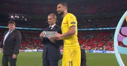 Donnarumma devient le plus jeune meilleur joueur de l'Euro de l'histoire