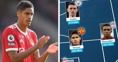 Varane in, No Bruno or Ronaldo: Premier League most expensive XI revealed