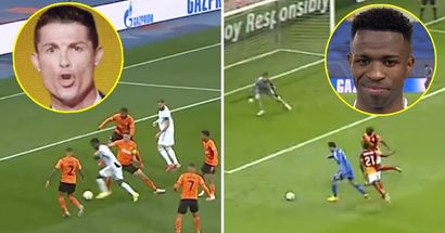 Vinicius Junior clones Cristiano Ronaldo's epic Real Madrid goal