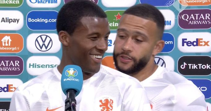 One thing Wijnaldum told media after Austria clash to fuel Depay-to-Barca rumours