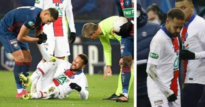Neymar es seria duda para el duelo ante el Barça tras lesionarse en la Copa de Francia