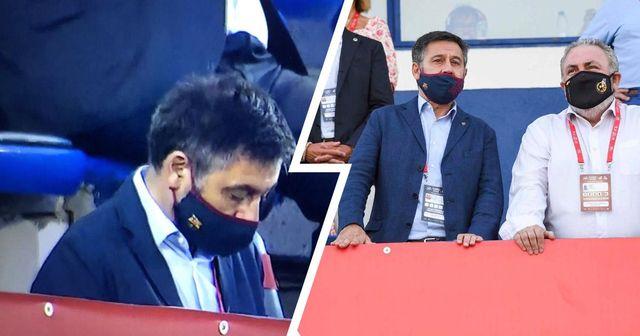 ¿Se durmió Bartomeu viendo al Barça B? Las imágenes se han hecho virales en las redes