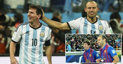 El emotivo mensaje de Mascherano a Messi tras igualar su récord