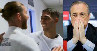 """Sergio Ramos à Achraf Hakimi dans le vestiaire du PSG : """"On a pris la bonne décision n'est-ce pas ?"""""""