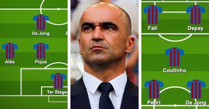 Cómo el Barça podría alinearse con Roberto Martínez: 3 opciones