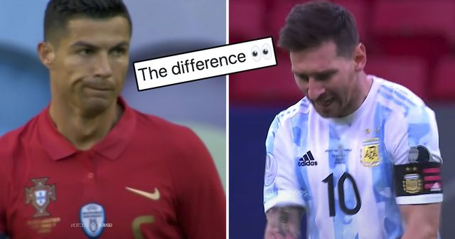 Fan notices 'the difference' between Messi and Ronaldo as captains in 2021