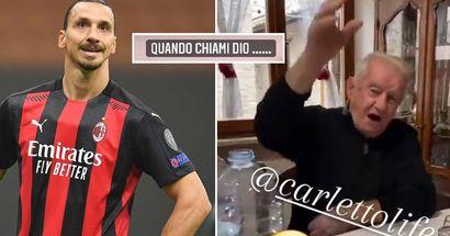 """""""Ciao Ibra e vaff*****"""": nonno Faustino invita Zlatan a mangiare i cappelletti e Zlatan lo chiama al telefono"""