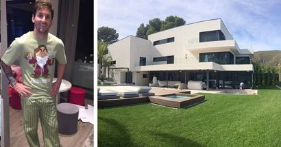Outside and inside of Leo Messi's superhouse in Barcelona