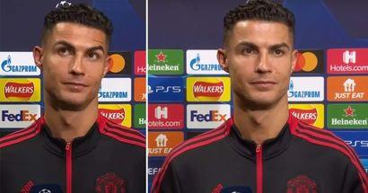 La reacción de Cristiano a la pregunta de un periodista sobre su último gol