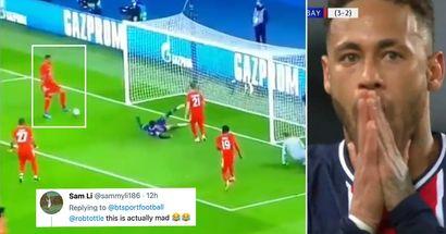 Jerome Boateng zeigt gegen PSG ein unglaubliches Kunststück, während er sein eigenes Tor verteidigt
