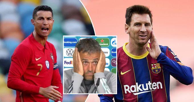 Luis Enrique destroys journalists when asked again about endless 'Messi vs Ronaldo' debate