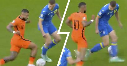 Depay's inch-perfect nutmeg wins Skill of the Day as Netherlands beat Ukraine