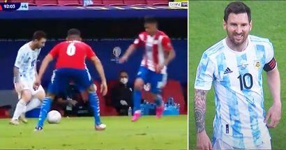 Lionel Messi avergüenza a dos jugadores de Paraguay con una deslumbrante habilidad en la Copa América