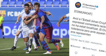 Le Barca publie une déclaration officielle condamnant le racisme après qu'un joueur adverse a été maltraité lors du match du Barça B par un fan à domicile