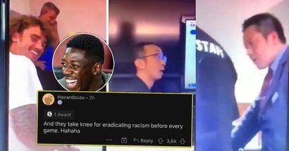 """""""Nous devons voir ces visages laids juste pour jouer à PES?"""": Griezmann et Dembélé surpris en train de se moquer du personnel asiatique à l'hôtel"""